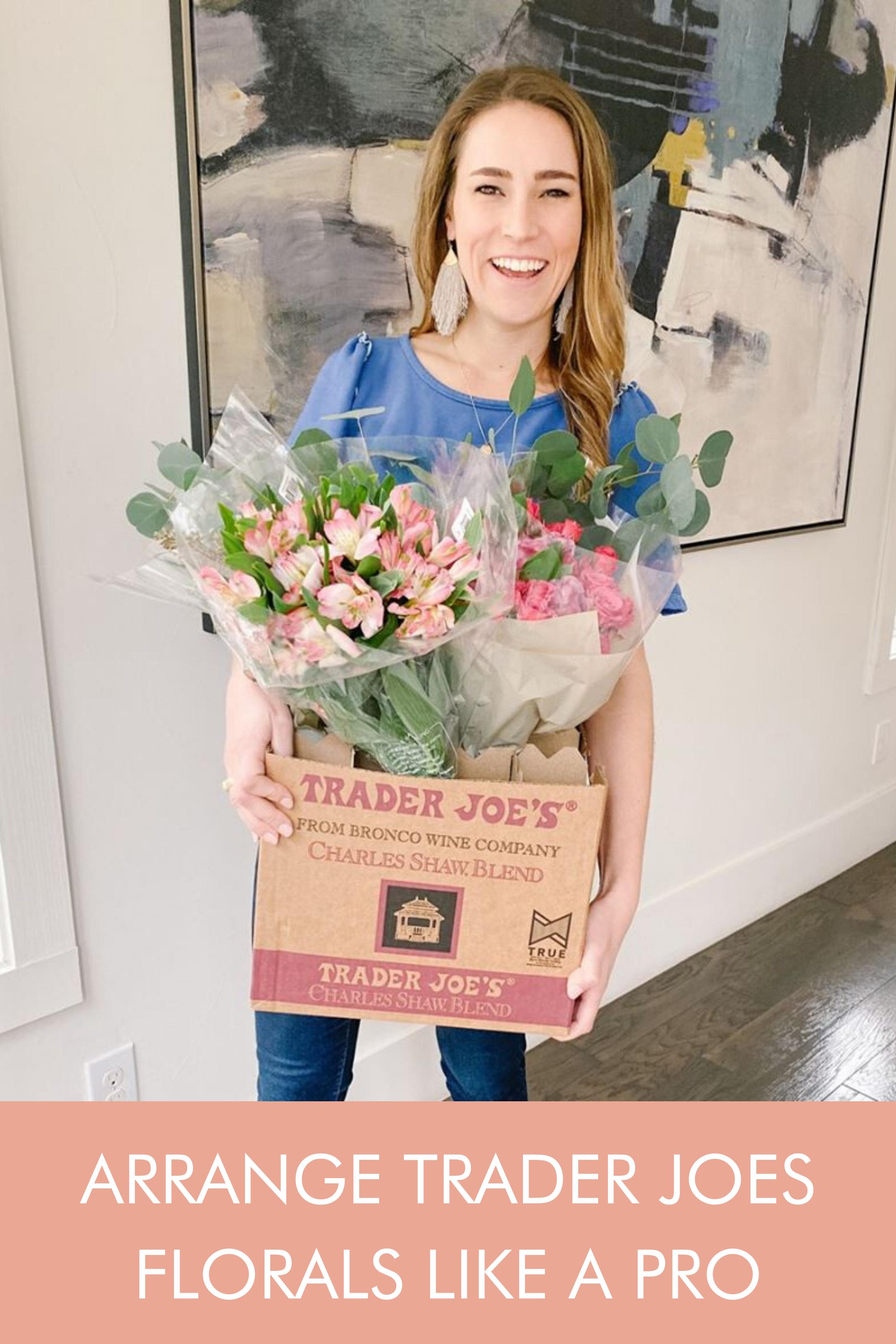 Arrange Trader Joes Florals Like A Pro In 2020 Flower Arrangements Diy Flower Arrangements Floral