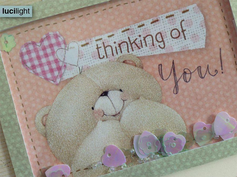 thinking of you - shaker card - Lucilight