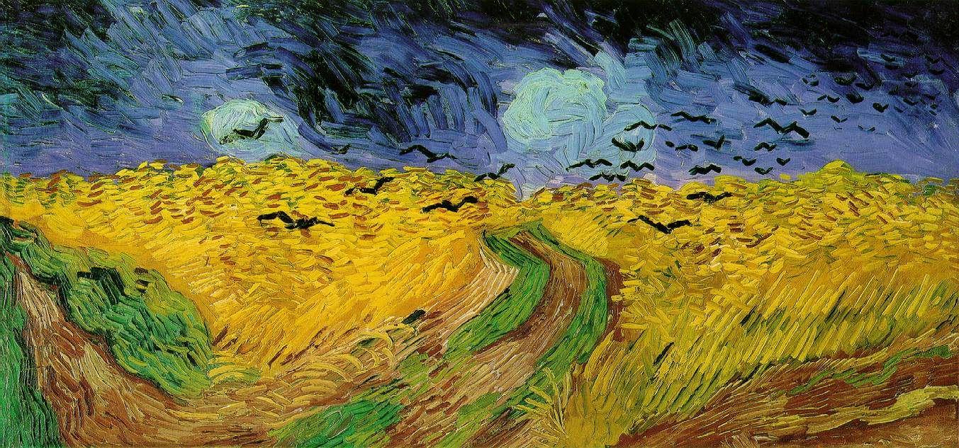 첫 번째 작품부터 프랑스에 있는 게 아니라 당황스럽네요. 이 작품은 빈센트 반 고흐의 1890년 작인 '까마귀가 나는 밀밭'입니다. 고흐는 후기인상주의의 대표주자인 화가로 이 그림이 그려진 1890년에 세상을 떠납니다. 그 당시 이 그림의 배경이 되는 밀밭 주위에서 요양하던 고흐는 밀밭의 노란색에 매료되어 그림을 그렸다고 합니다. 보기에도 노란색 밀밭에 있는 강렬한 필선이 눈에 띄고, 그 위로 어두운 색의 하늘과 까마귀가 보입니다. 역시 이 당시의 그림들은 고흐의 불안정한 심리를 보여주며, 그 속에서 유일하게 노랗게 빛나던 밀밭을 보며 그나마 안정을 찾으려 했던 고흐였을 것 같습니다.