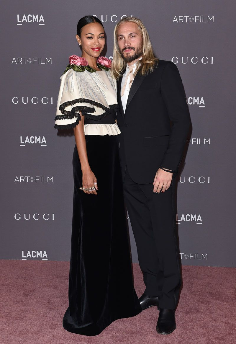 Zoe Saldana Marco Perego GUCCI + Lacma 2017 Art And Film Gala | Red ...