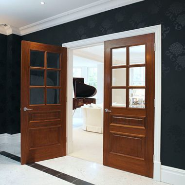 Finished in a beautiful Etimoe veneer these traditional panelled style doors really add a touch of class. Available as a Bespoke Option from JB Kind Doors & Finished in a beautiful Etimoe veneer these traditional panelled ...