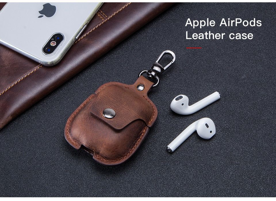 Handmade Airpods case cover w , vintage tooled Genuine ...