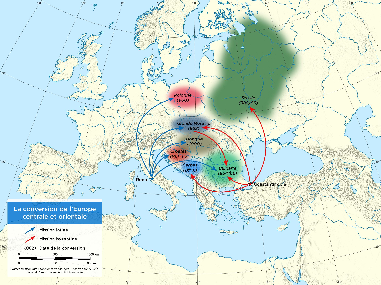 Europe Centrale Et Orientale Carte.L Expansion Du Christianisme En Europe Centrale Et Orientale