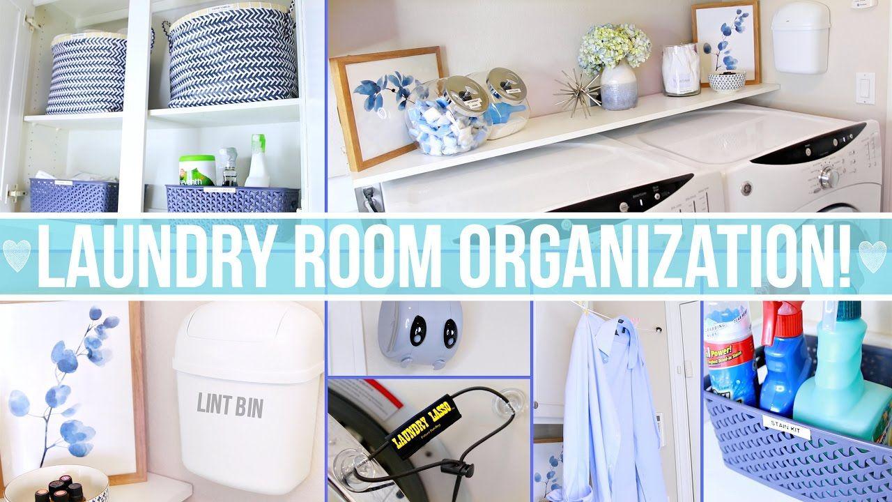 Laundry Room Organization Ideas! - YouTube  Laundry room