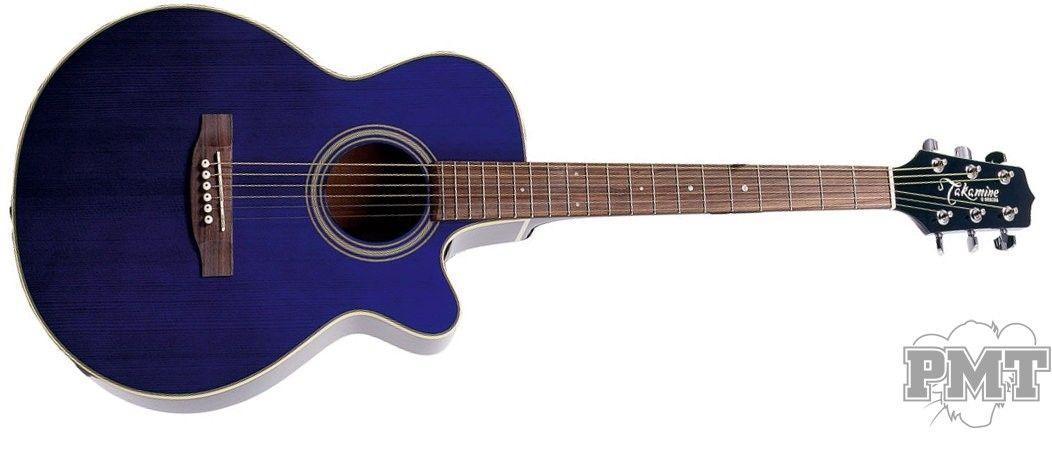 Takamine Eg260c Electro Acoustic Guitar Transparent Blue Gloss Electro Acoustic Guitar Takamine Guitars Guitar