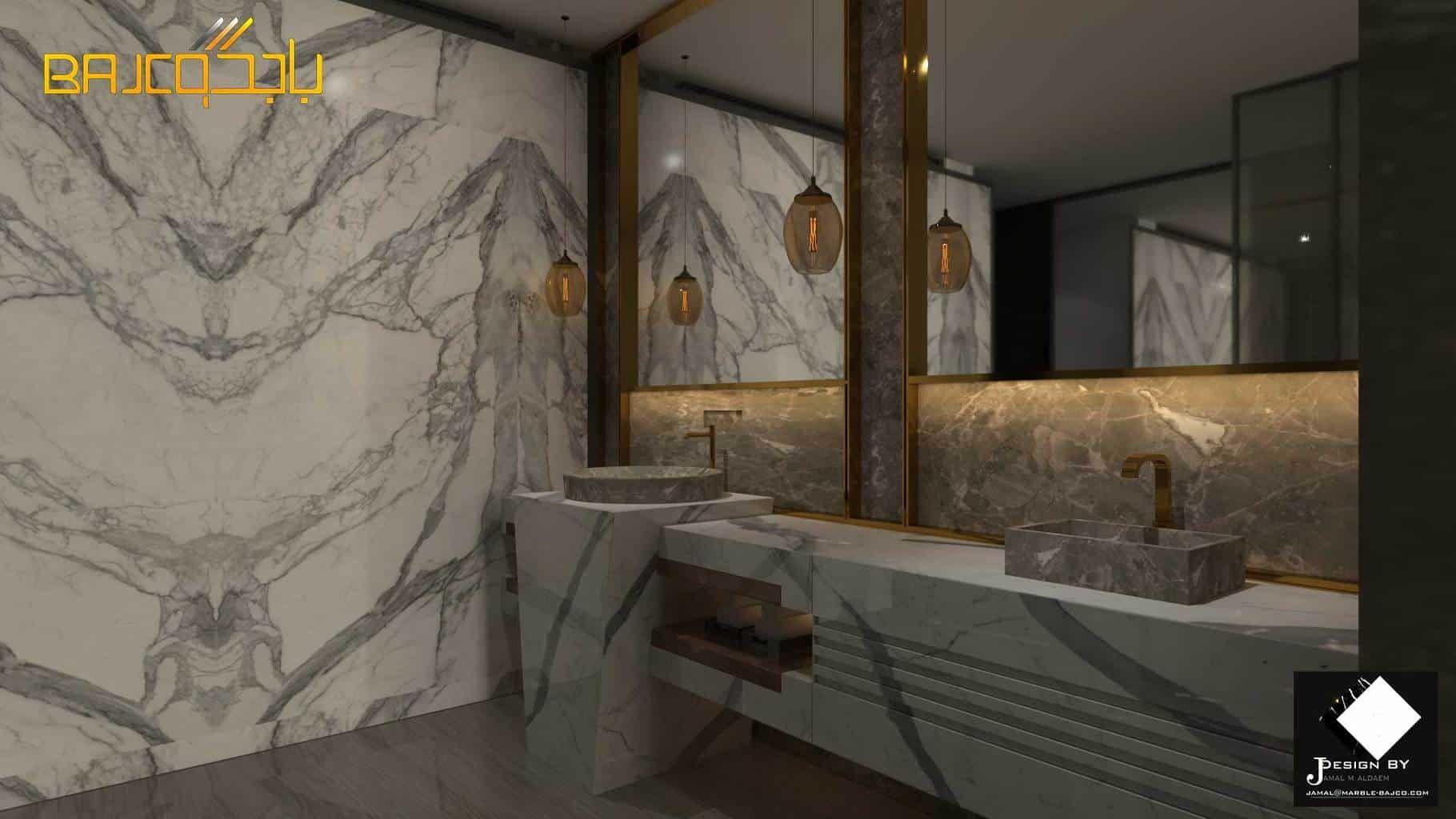 مغاسل ستتواريو Marble Bathroom Vanity Vanity