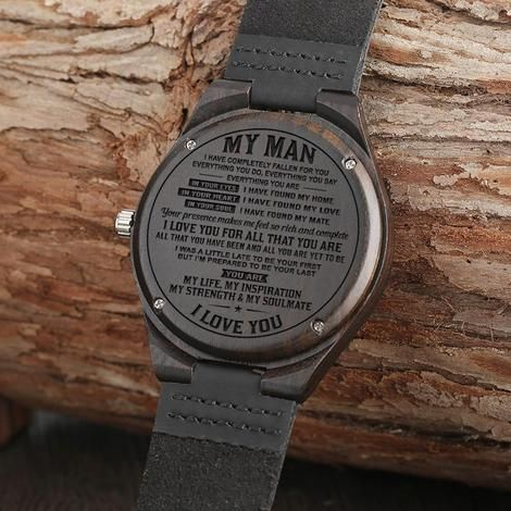 Great Gift For Your Husband Engraving Wooden Watch | Family Loves Gift – Family Gift Love