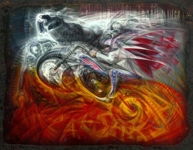 Tom Thewes artista que vive y trabaja en Detroit, Michigan. Crea obras y murales muy detallados con aerosol.    http://www.contraprojects.com/artists/tom-thewes