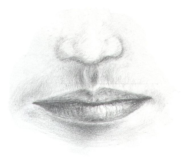 Pencil Drawing Nose & Mouth | Drawings, Sketches and Artsy