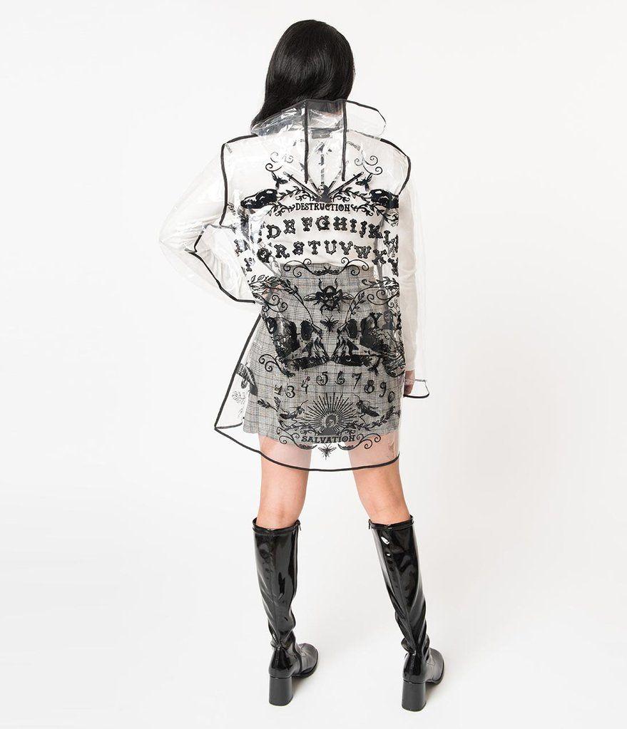 WOMENS HOODIE DRESS OUIJA BOARD GOTH SKULL WITCHCRAFT HALLOWEEN GRUNGE S-XL