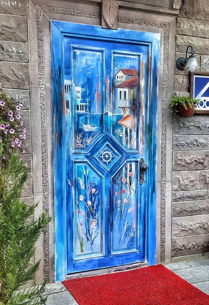 процессе как раскрасить дверь фото нужна