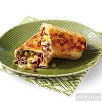 Beef, Baked Bean & Cheese Crispy Burritos #pioneerwomannachocheesecasserole