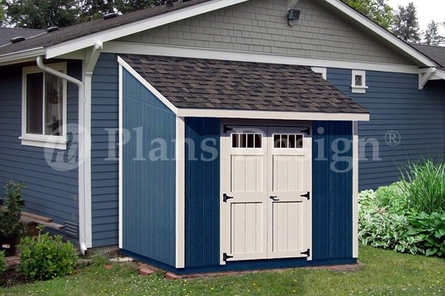Shed Plans, 8u0027 X 8u0027 Deluxe Lean To Roof Style #D0808L,