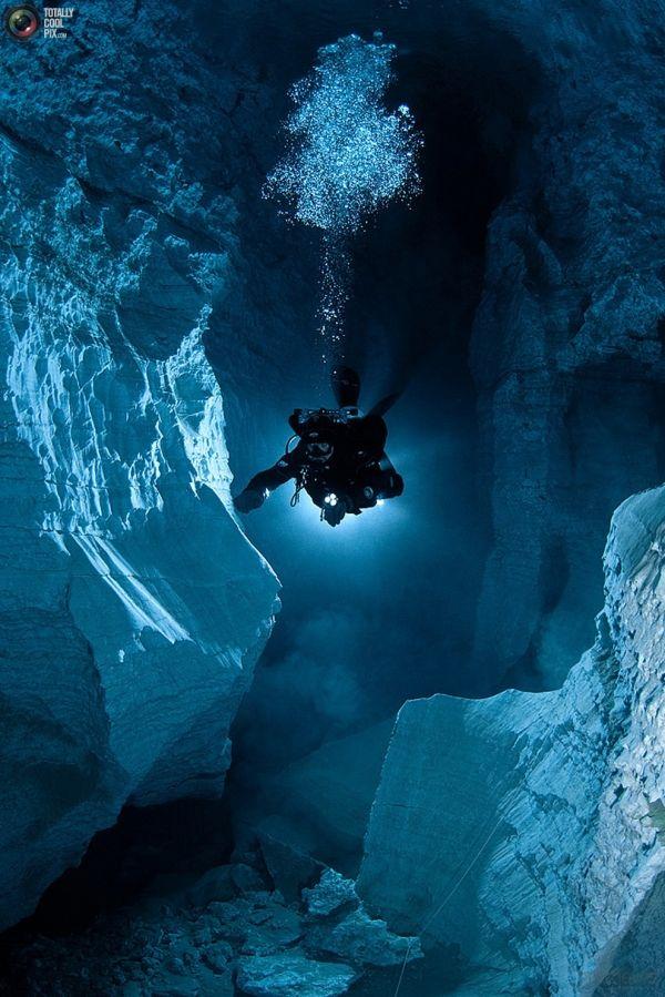 Cavernas Subaquáticas, Sob