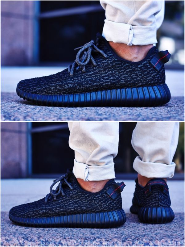 "e6c3580bdfe483 ON-FOOT LOOK // ADIDAS YEEZY BOOST 350 ""PIRATE BLACK"" 