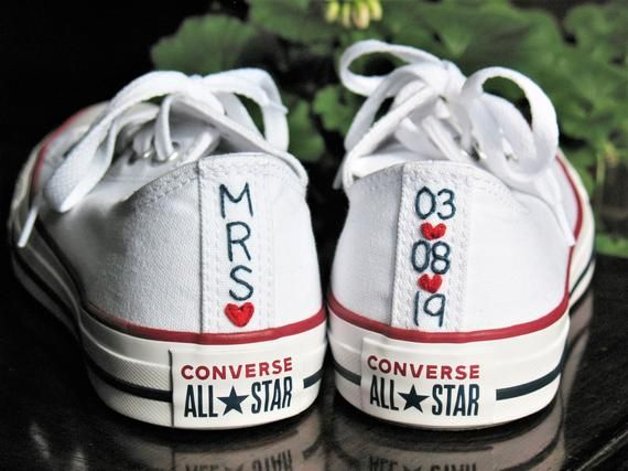 Custom Wedding Converse, SHOES INCLUDED, Custom Converse