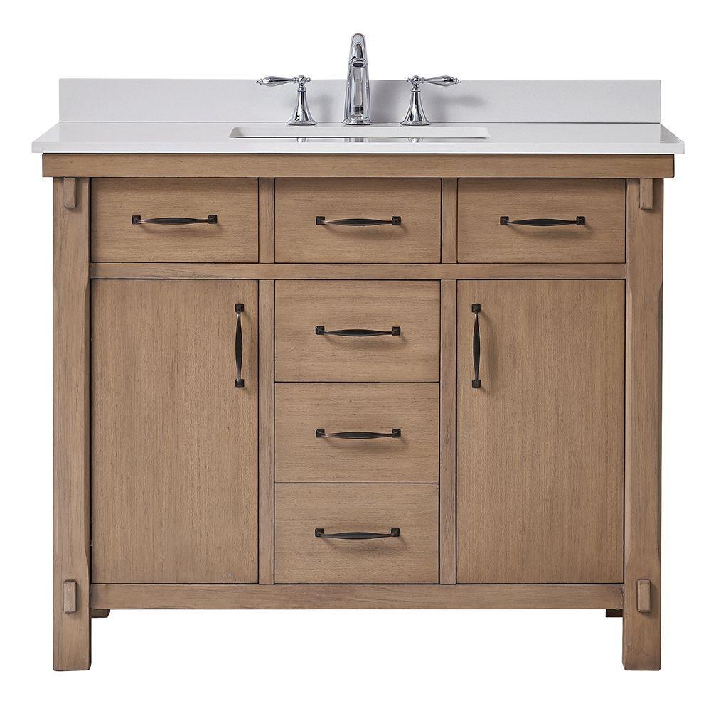 Bellington 42 Inch Almond Vanity Bathroom Cabinet Marble Vanity