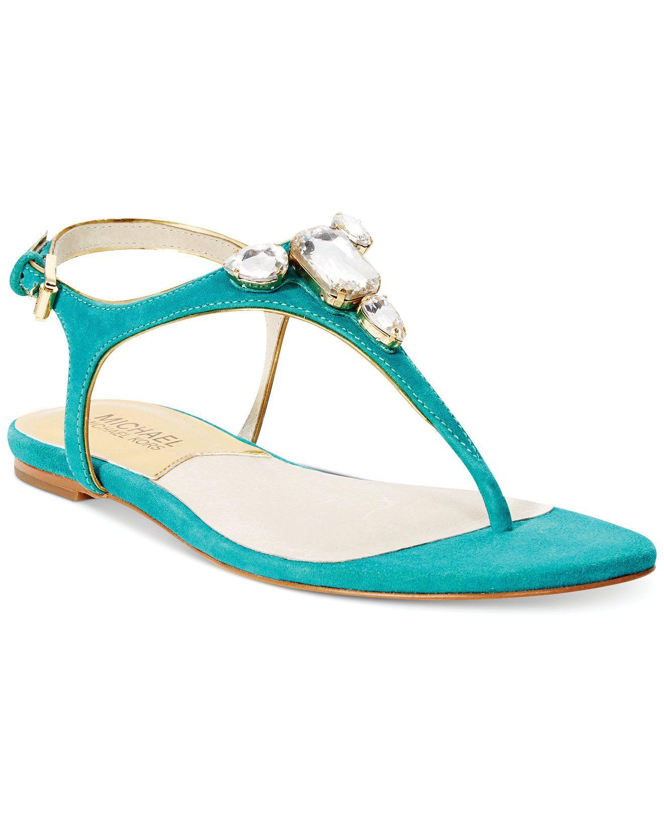 00aaa8d952e MICHAEL Michael Kors Jayden Thong Flat Sandals - Sandals - Shoes - Macy s