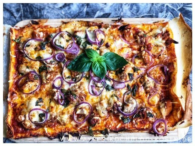Chicken Drumsticks Pizza l Haehnchen Pizza