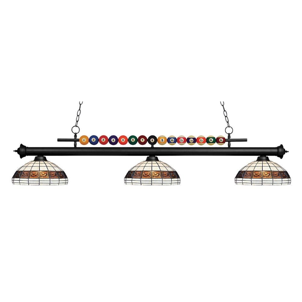 Filament Design Kerstin 3-Light Matte Black Billiard Light
