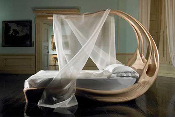 Design Ideen Himmelbetten Holz Baldachin Schlafzimmer
