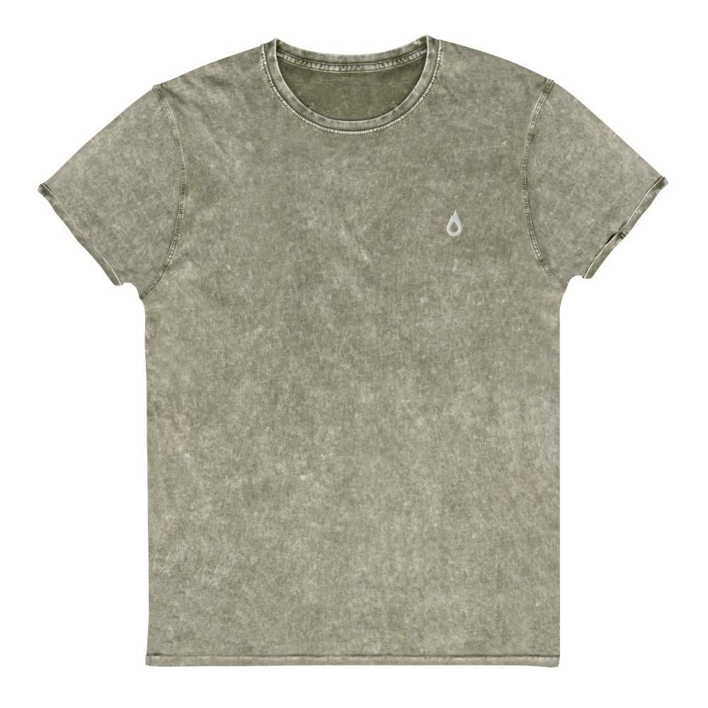 Photo of Denim Wash Embroidered Icon Tee – Army / L