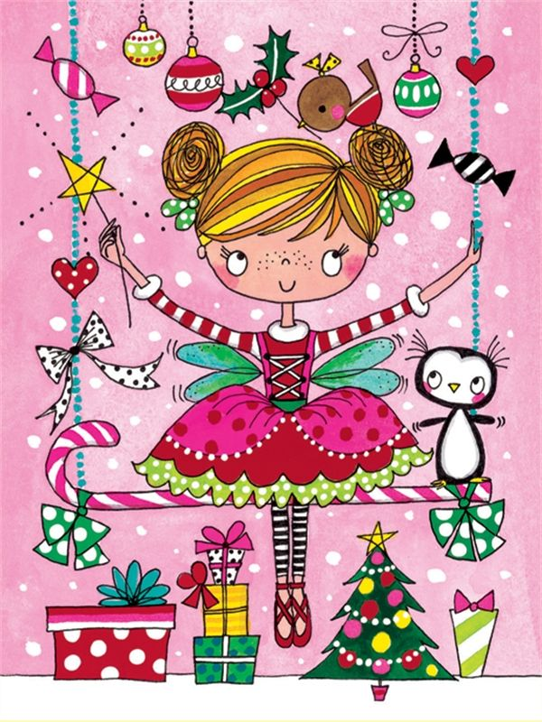 2015 christmas glicee XPK44 Fairy on Swing Pack of 5