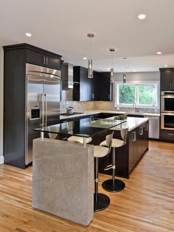 nice Idée relooking cuisine - Cuisine moderne bloc béton ... Check ...