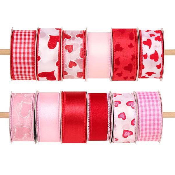 9 assorted valentine wired ribbon value pack 10 yard rolls