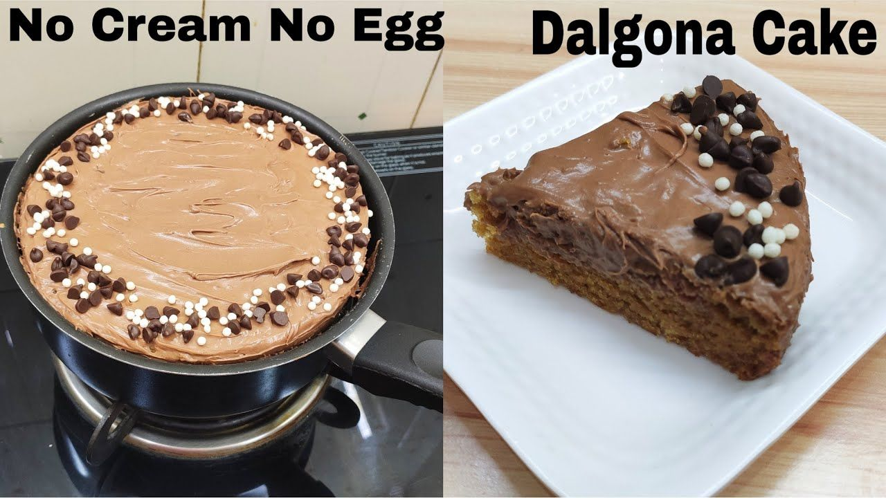 Dalgona Cake In LockDown Without Cream, Egg, Oven, Butter
