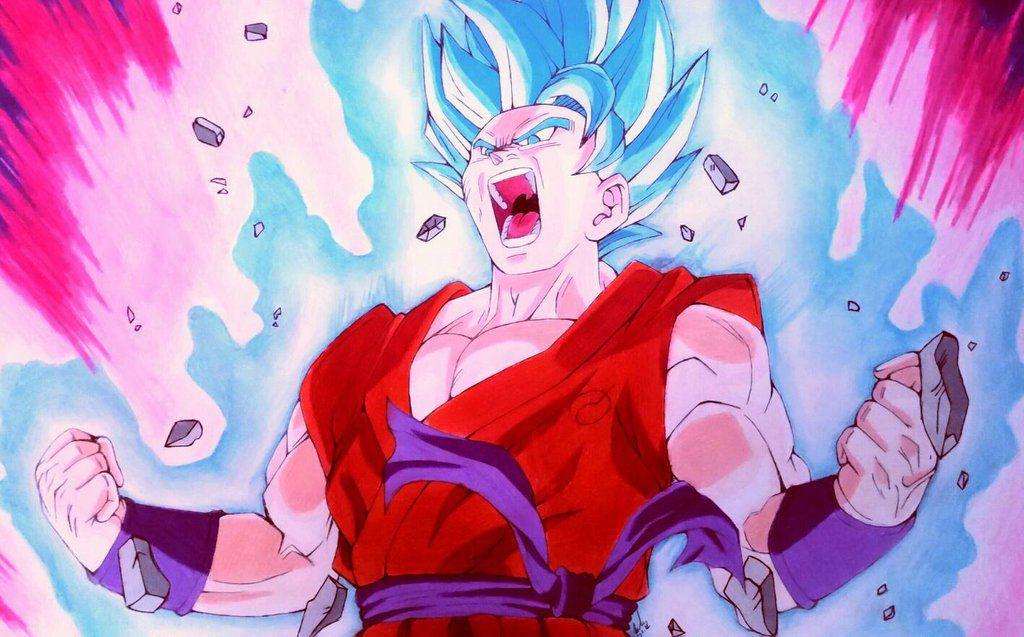 Goku Super Saiyan God Blue Kaioken