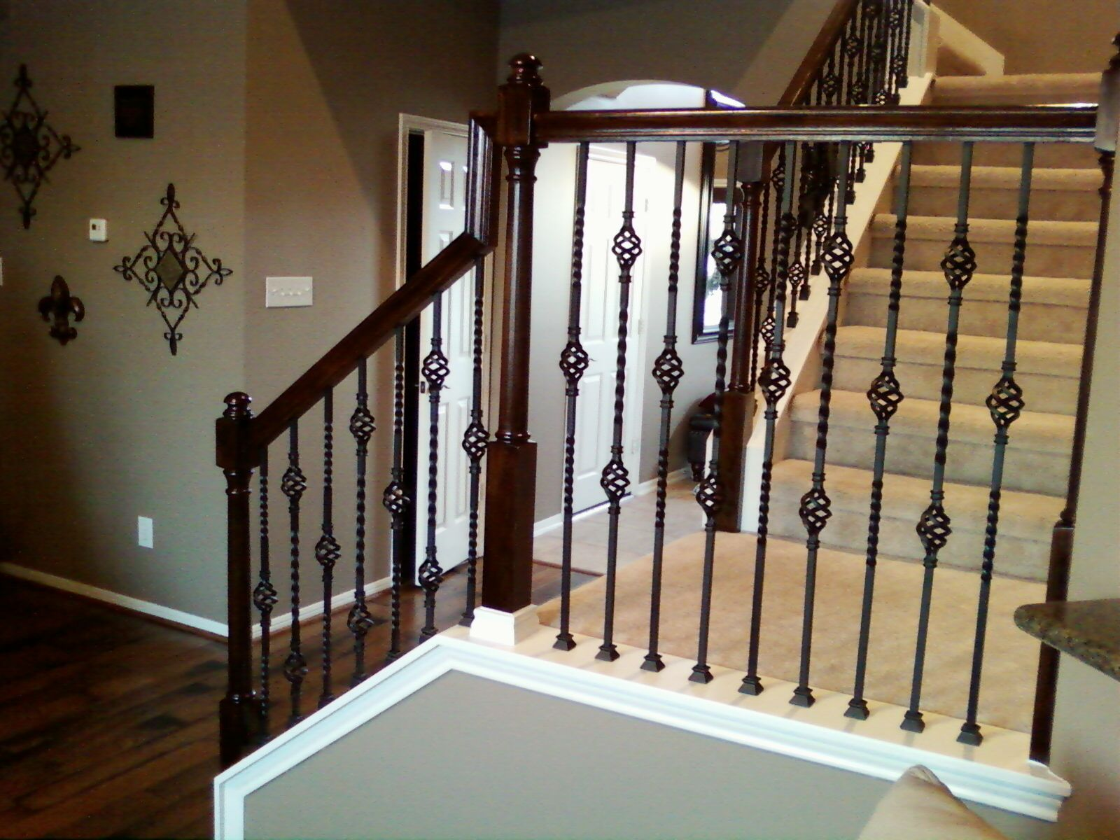Superbe Metal Banister Spindles | Iron Balusters Double Basket Stair Wrought Iron  Baluster Free Shipping .