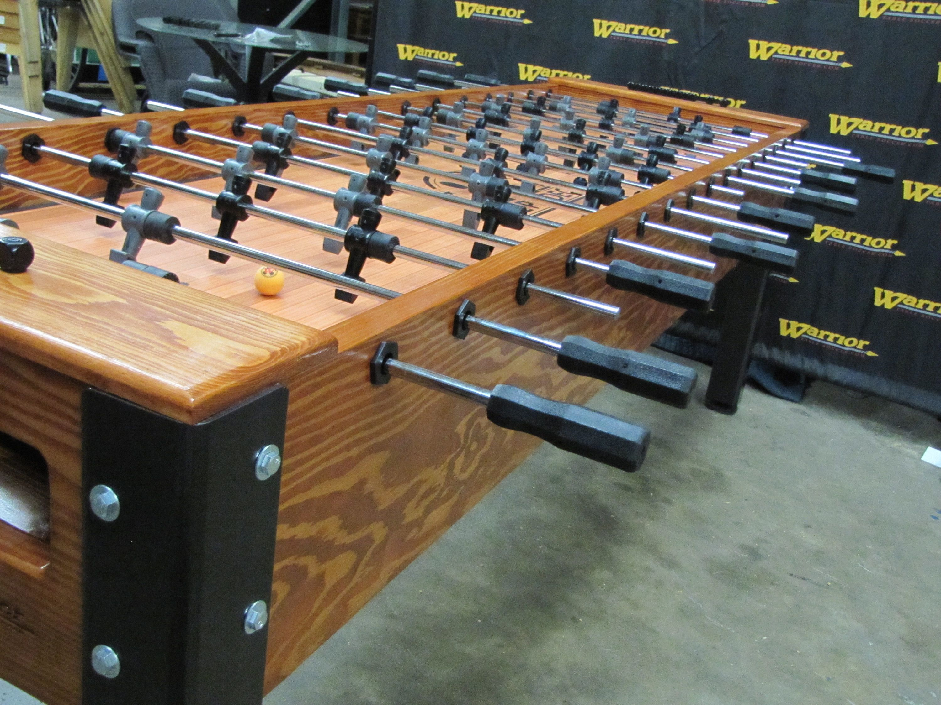 Hand Crafted Solid Wood And Steel 8 Player Foosball Table By Etsy Foosball Table Foosball Soccer Table