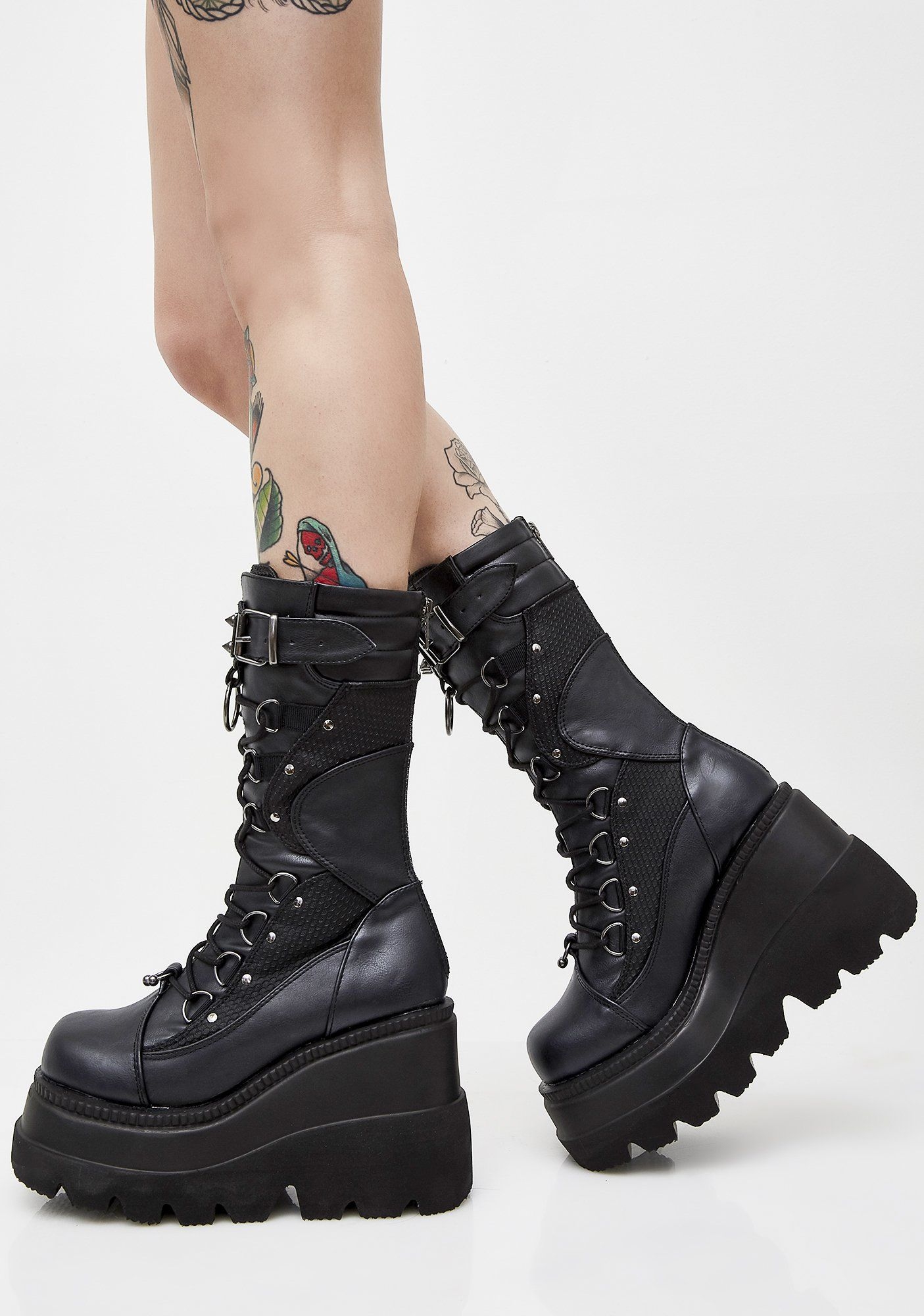 4afa5fd115c Demonia Charade 206 Black Corset Lace Up Boots in 2019