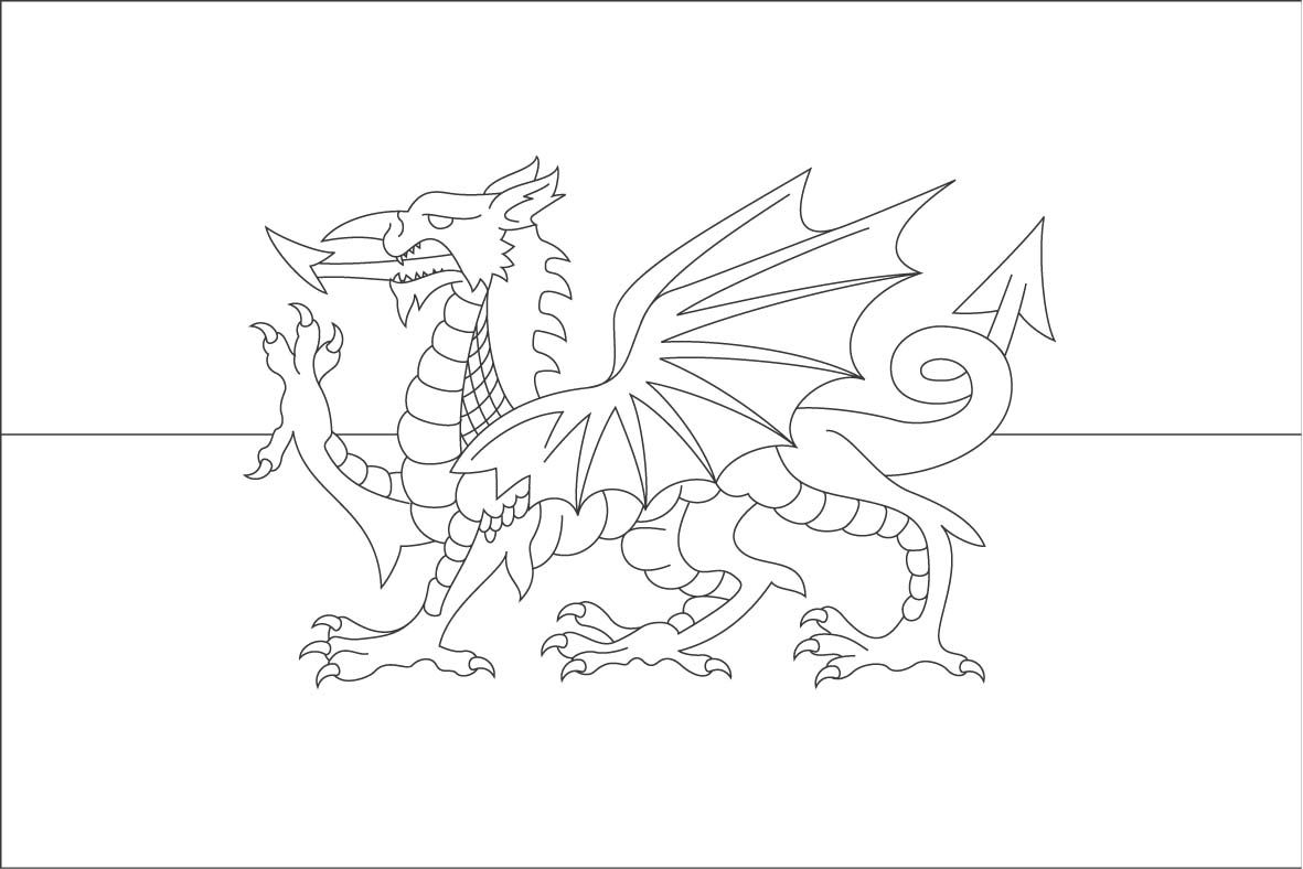 Dragon Coloring Pages | Welsh Flag Colouring Page - reviews and ...