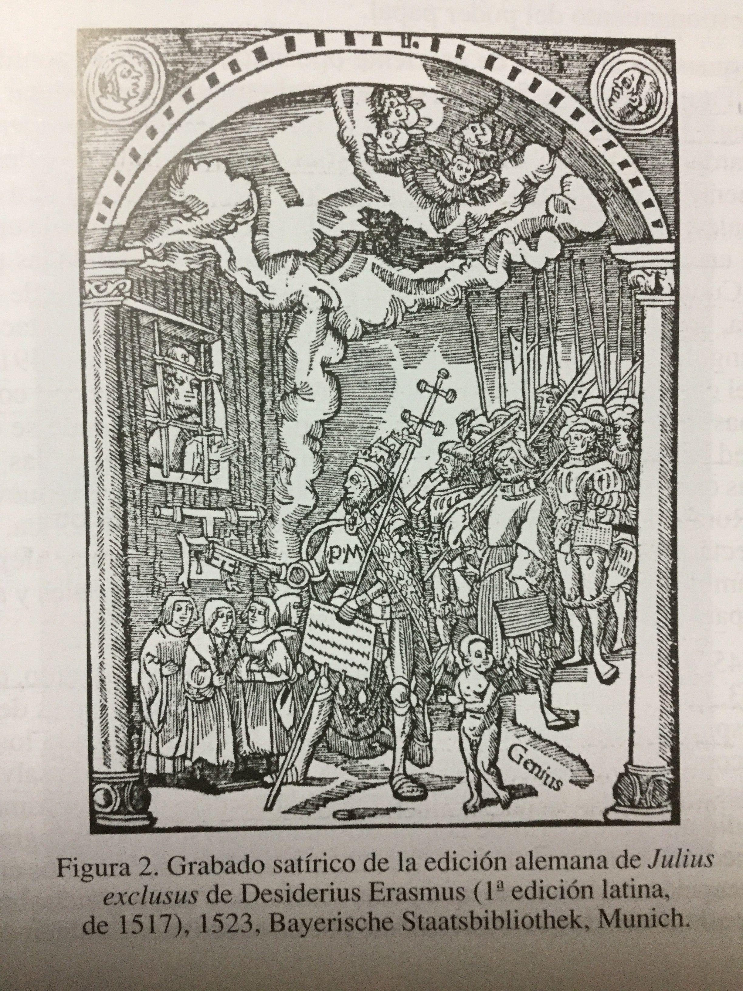 Grabado satírico de la edición alemana del Julius exclusus de ...