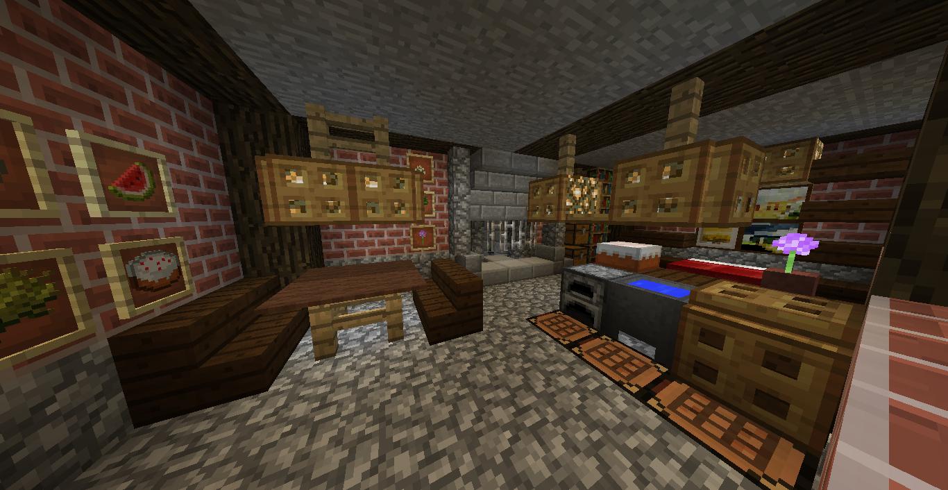 Inside hobbit hole.   Minecraft medieval, Minecraft ...
