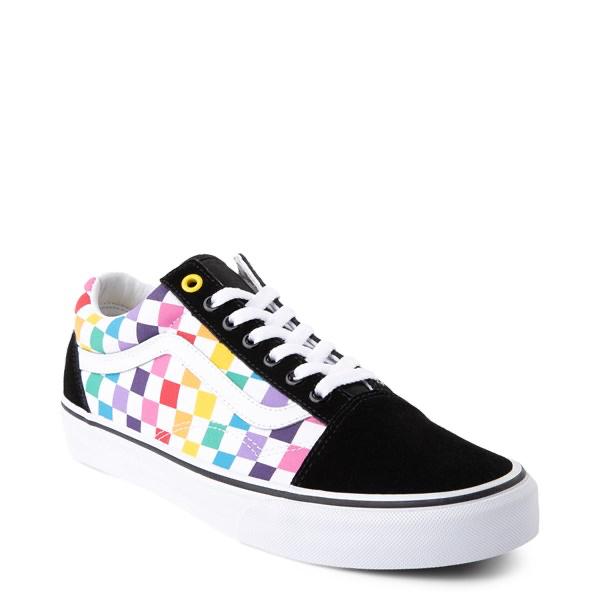 Vans Old Skool Rainbow Checkerboard Skate Shoe Multi Vans Old Skool Rainbow Vans Purple Shoes
