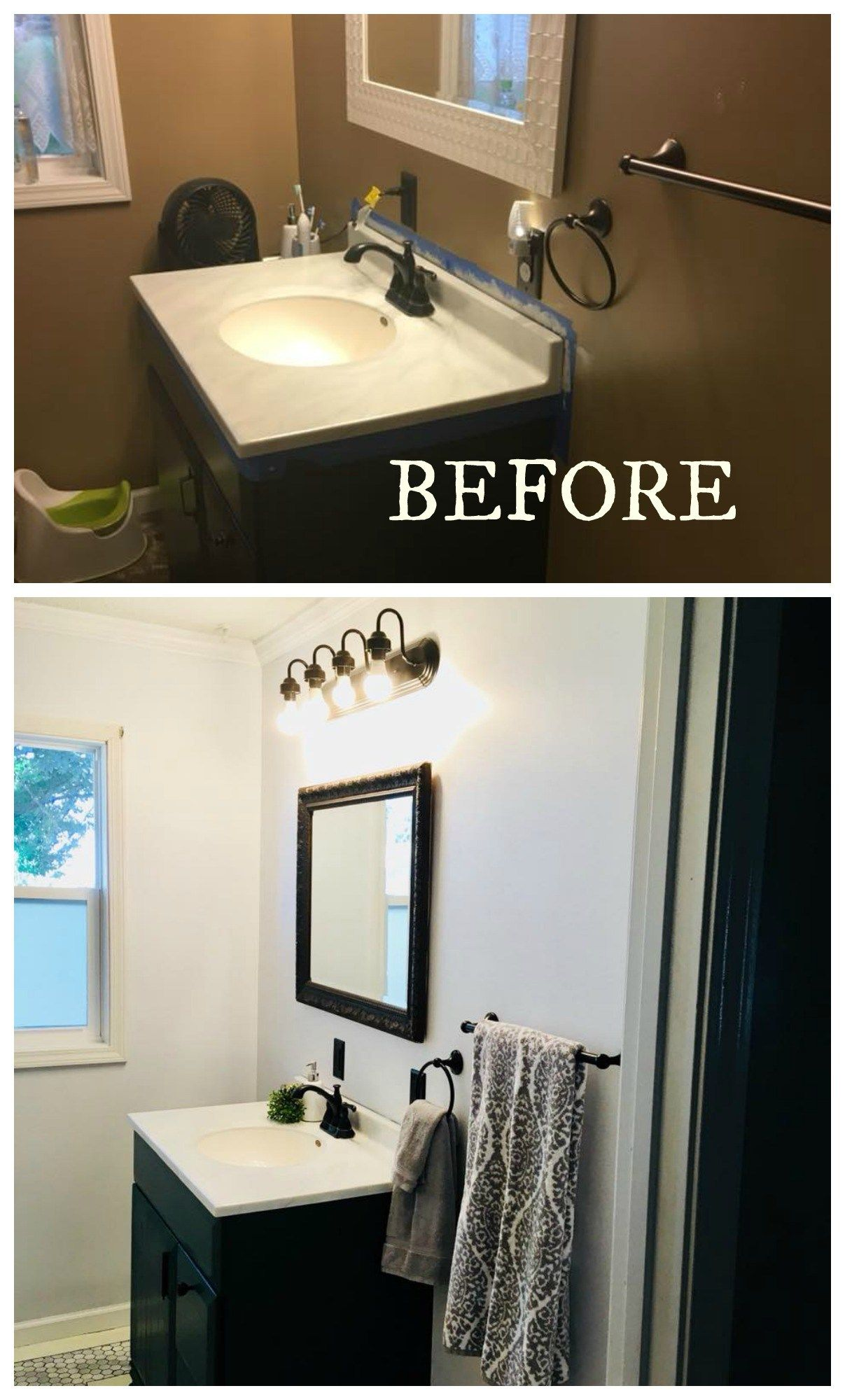 20 Bathroom Makeovers Before And Afters Bathroom Makeover Small Space Bathroom Home