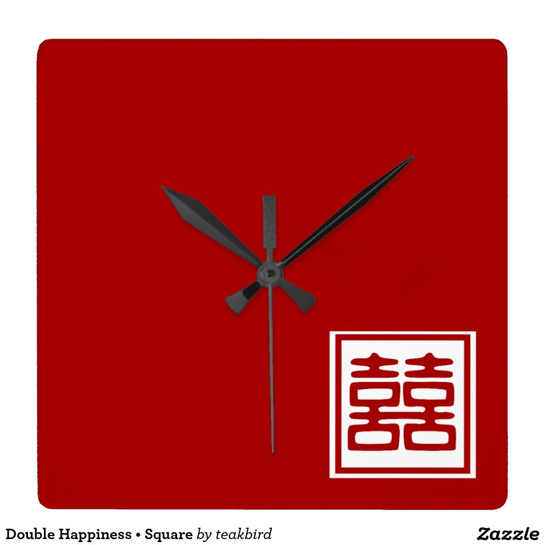 Double happiness square square wall clocks thank you to the double happiness square square wall clocks thank you to the lovely lady in buycottarizona