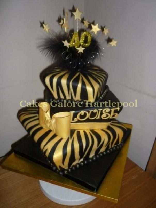 Gold And Black Cakes Black And Gold 40th The Customer