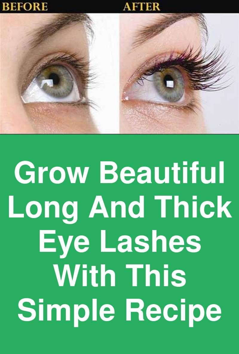 b43d0a356da Grow beautiful long and thick eye lashes with this simple recipe What is  the most striking part of your eye? Undoubtedly your eye lashes. No matter  what is ...
