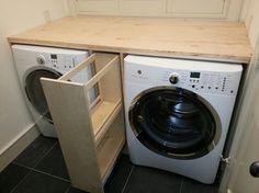 Praktische oplossing om wasmiddel en dergelijke uit beeld te houden