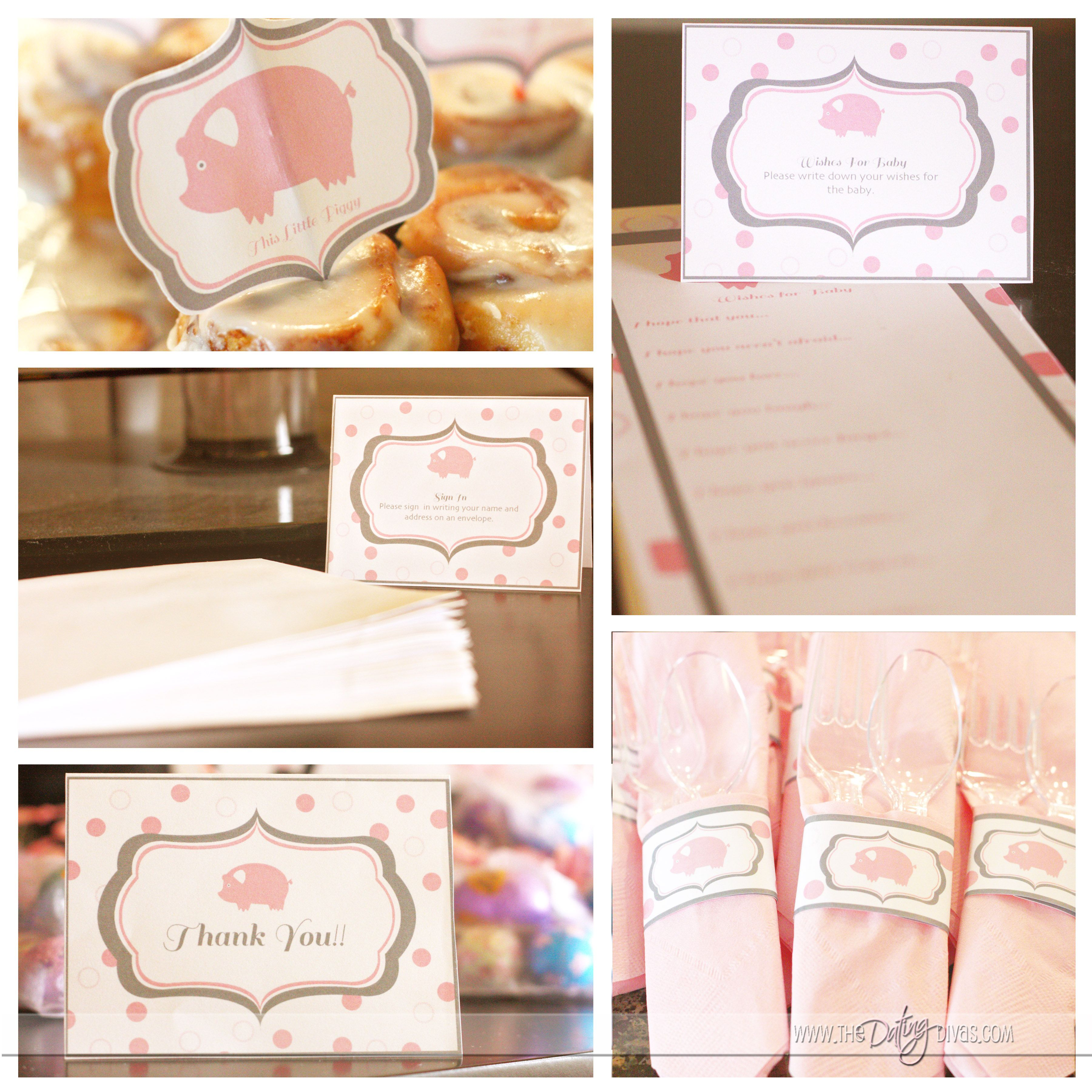 Attractive Little Piggy Baby Shower Idea With Free Printables