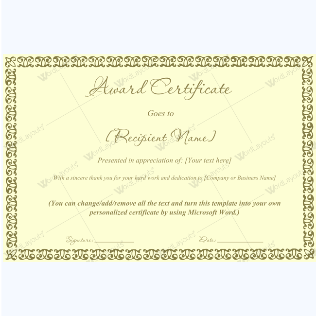 Business award certificate template award certificate business award certificate template award certificate greycertificate template yadclub Images