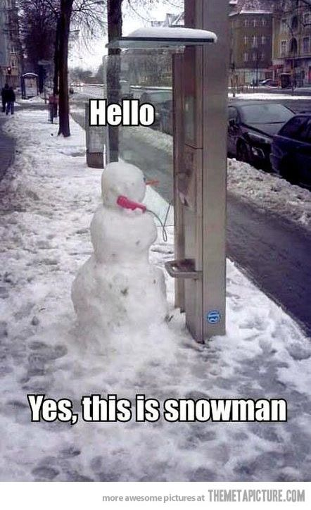 Frosty answers the phone…