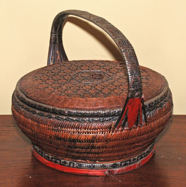 images of handwoven baskets   Asian Decor: Woven Basket from Shanghai, China