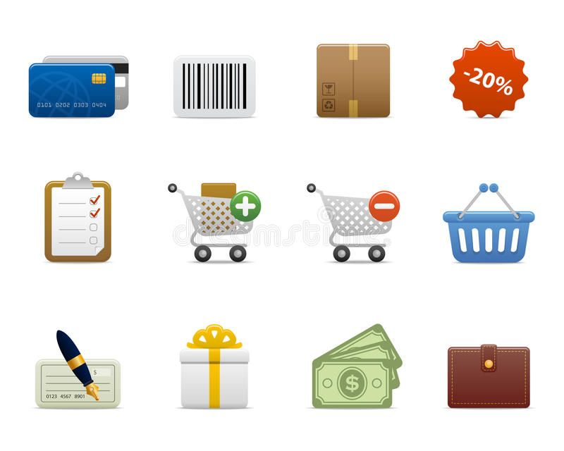 Smooth Series Shopping Icons Detailed Icons For Your Presentation Website P Sponsored Shoppi Business Cards Photography Shop Icon Vector Illustration