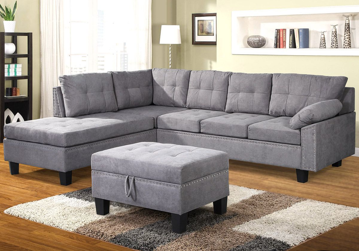 Segmart 104 7 X88 6 X35 Modern Sectional Velvet Fabric Sofa Contemporary 3 Piece Sectional Sofa Sets With Chaise Lounge And Storage Ottoman Sofa Bed Furnitur Sectional Sofa With Chaise Sectional Sofa Sofa Set
