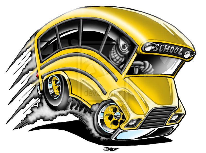 Pin By Kool Bandit On Car Toons With Images Cartoon School Bus